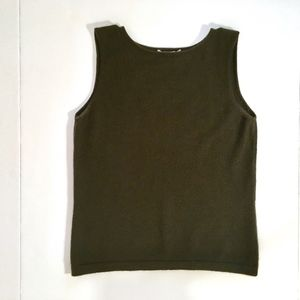 Central Park West 100% Cashmere Sleeveless Sweater